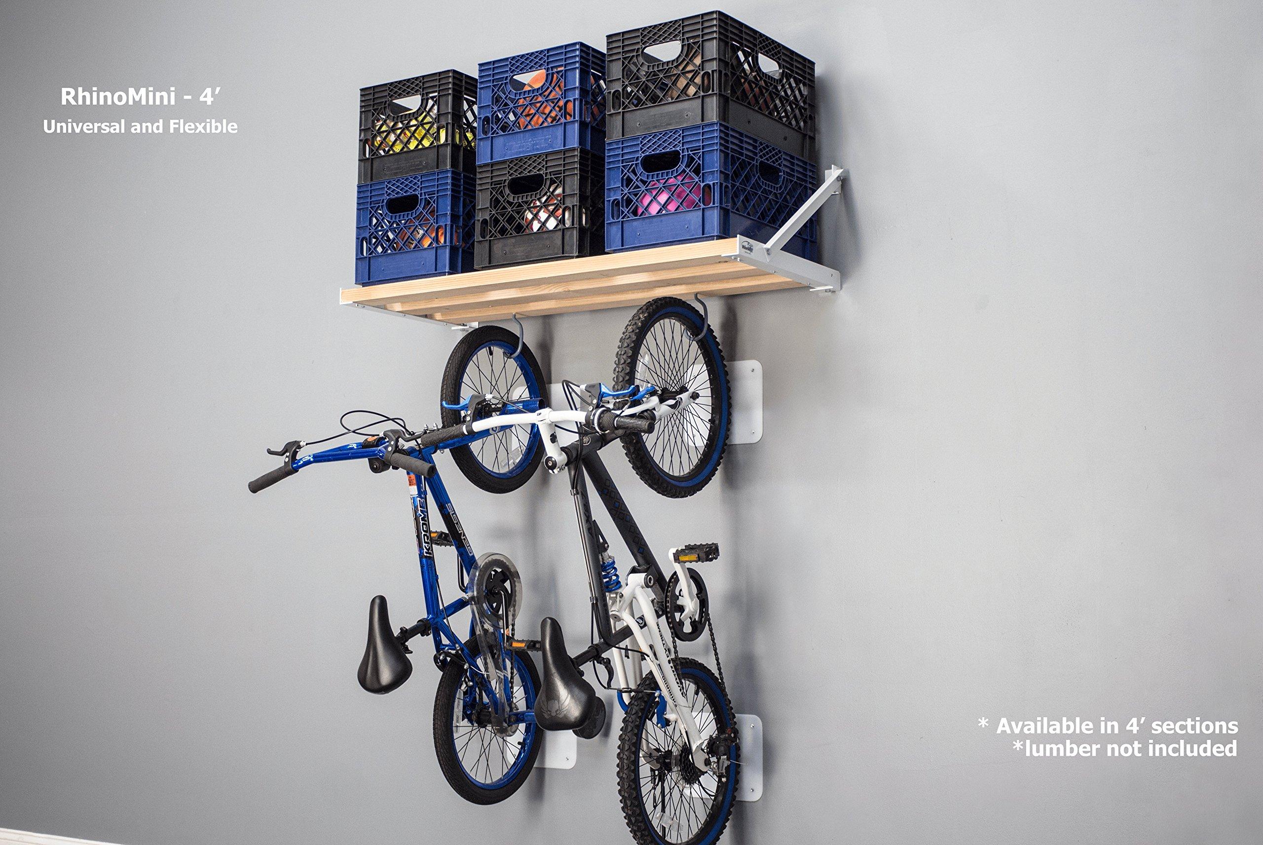 DIY RhinoMini Shelf Kits for Garages & Other Applications (4' Length; 20'' Width) by RhinoShelf.com