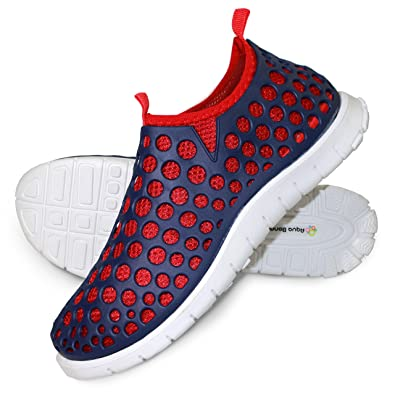 Hybrid Water Shoes - Superlight Breathable Flexible. Separable Insoles- Navy 43EU Red