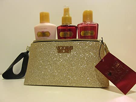 Victoria s Secret Pure Seduction Gift Set Light Gold Shimmery Bag with Pure Seduction Lotion, Mist, and Wash