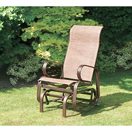 SunTime Havana Single Seat Glider Chair In Bronze   Garden Armchair   Metal  Patio Chair In