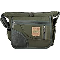 Cotton Jeans Olive Green Men's and Women's Cross Body Sling Bag