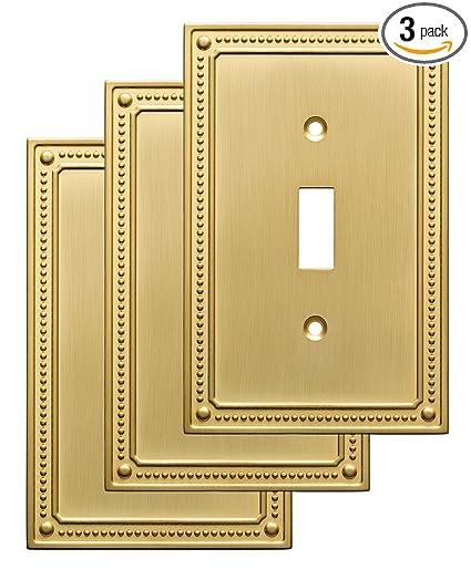 Franklin Brass W35058v Bb C Classic Beaded Single Switch Wall Plate