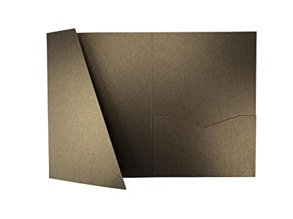 amazon com chocolate a7 5 card cover tri fold pocket invitations