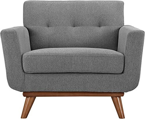 Modway Engage Mid-Century Modern Upholstered Fabric Accent Arm Lounge Chair - the best living room chair for the money