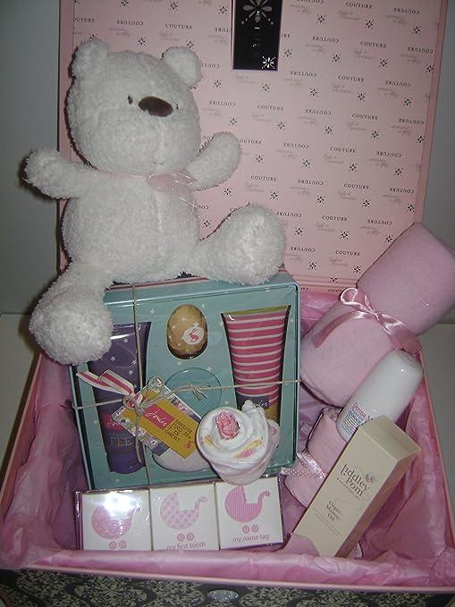 Babysfirstnight - Cesta para mamá y bebé (incluye caja de regalo ...