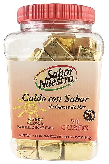 Sabor Nuestro - Caldo con Sabor de Carne de Res - Beef Flavor Bouillon - 70