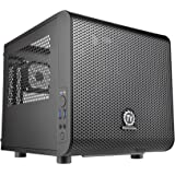 Thermaltake Core V1 Black Edition SPCC Mini ITX Cube Computer Chassis CA-1B8-00S1WN-00