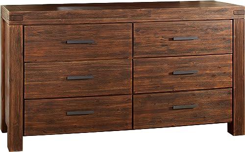Modus Furniture 3F4182 Meadow Six Drawer Solid Wood Dresser