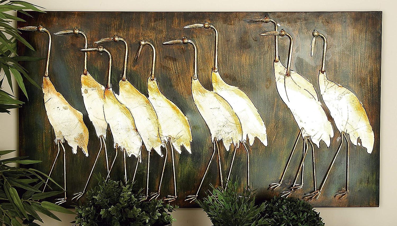 Deco 79 13695 Metal Bird Wall Plaque Unique Garden Decor