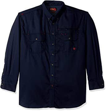 6e433916ee Amazon.com  Ariat Men s Men s Big and Tall Flame Resistant Work Shirt   Clothing