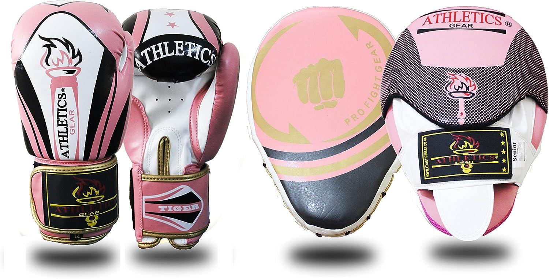 Set de manoplas y de guantes para gancho y jab curvados para boxeo bolsa de golpear y entrenamiento MMA