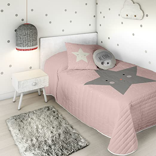HACIENDO EL INDIO Colcha bouti Happy Star Cama 90 cm: Amazon.es: Hogar