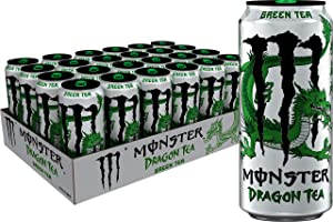 Monster Energy Dragon Tea, Green Tea, 15.5 oz (Pack of 24)