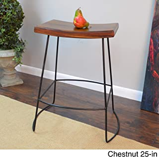 product image for Carolina Chair and Table Dayton Saddle Seat Stools (Set of 2) Brown Counter Counter Height - 23-28 in.
