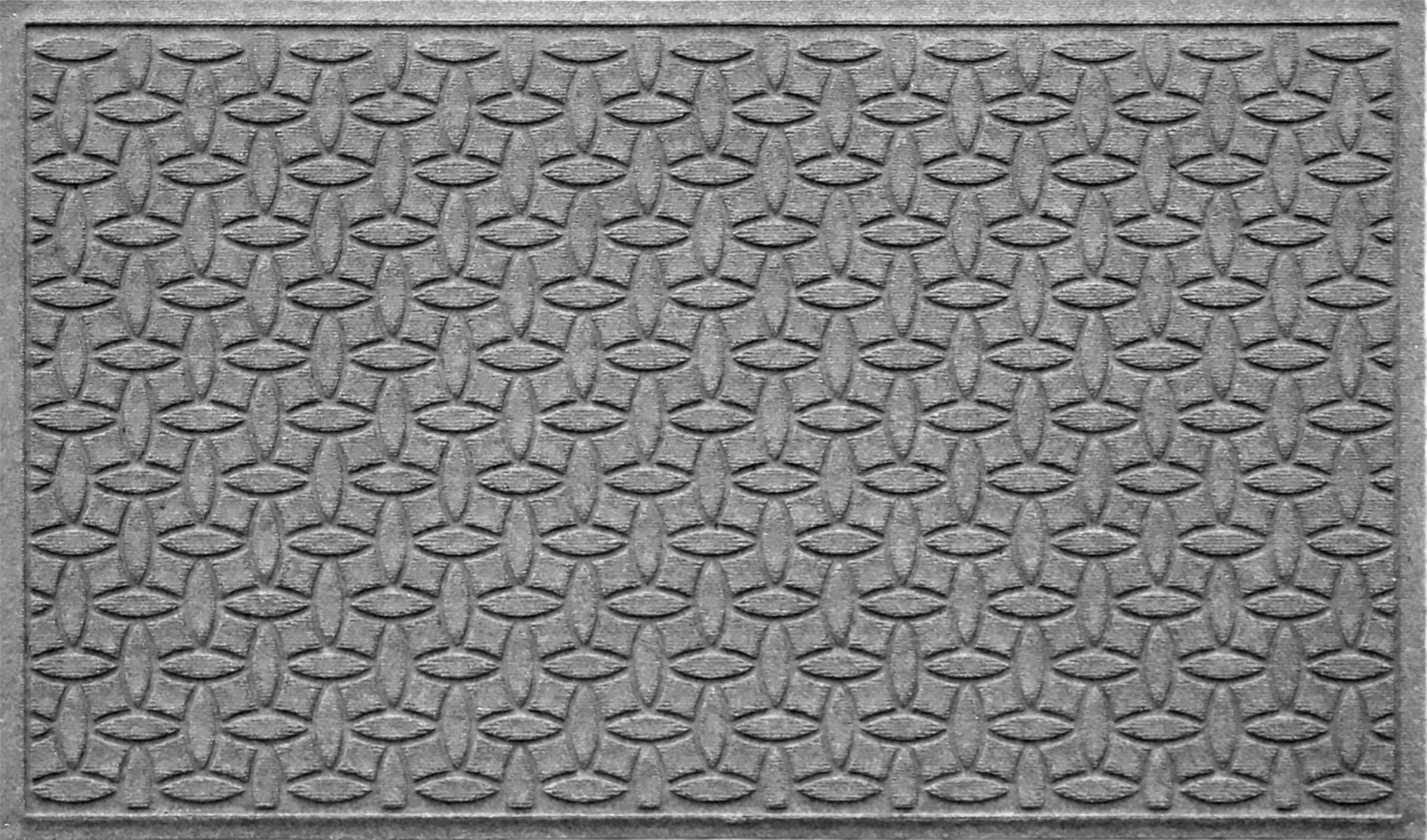 Bungalow Flooring Waterhog Indoor/Outdoor Doormat, 3' x 5', Skid Resistant, Easy to Clean, Catches Water and Debris, Ellipse Collection, Medium Grey