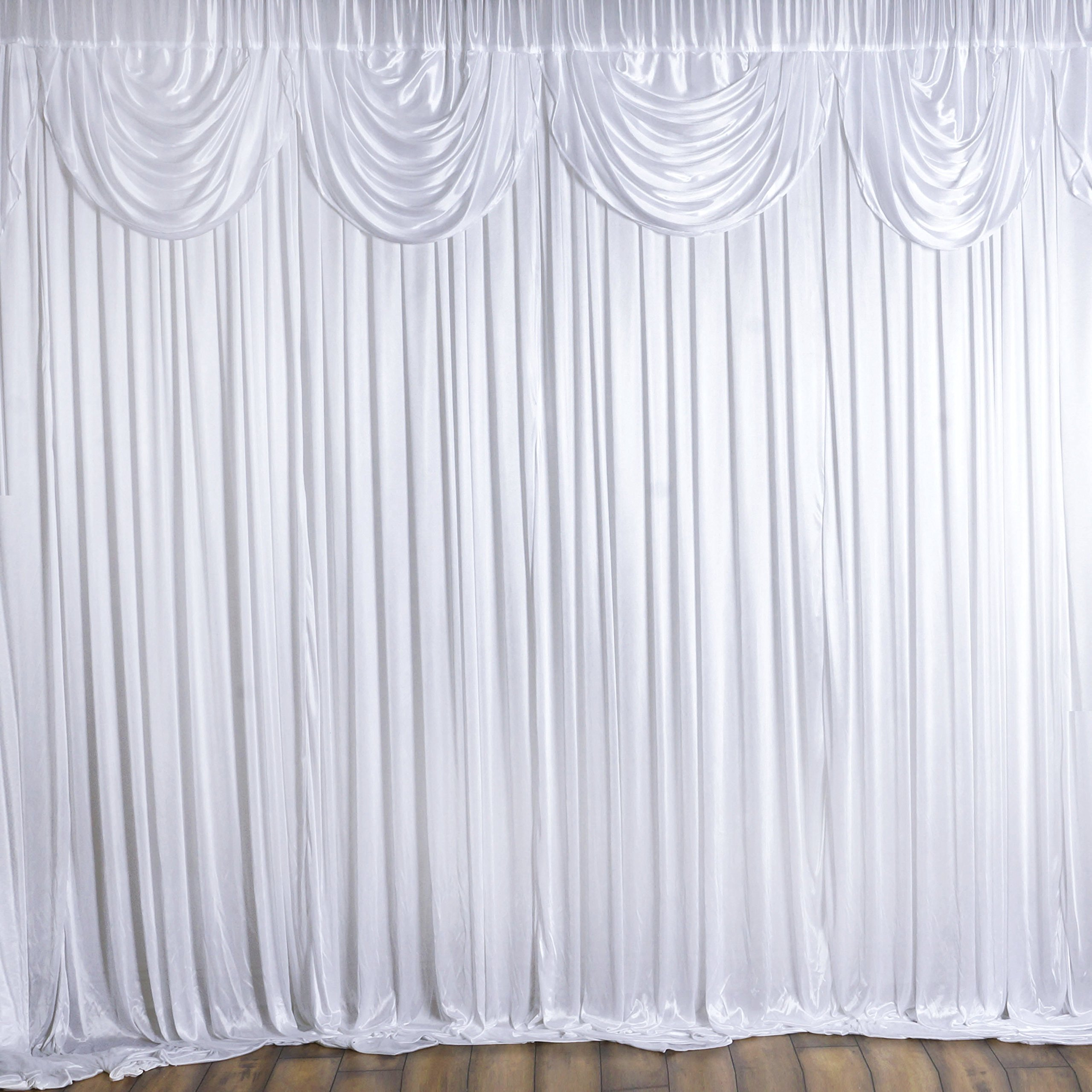Tableclothsfactory 20ft x 10ft Classic Double Drape Party Wedding Backdrop,Photography Background - White by Tableclothsfactory