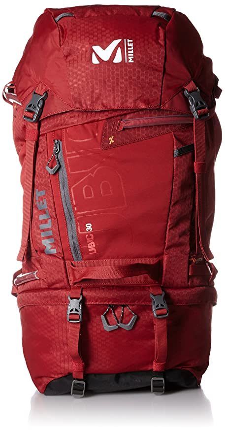160d0897a2 MILLET Ubic 30 Zaino Casual, 45 cm, Liters, Rosso (Deep Red): Amazon ...