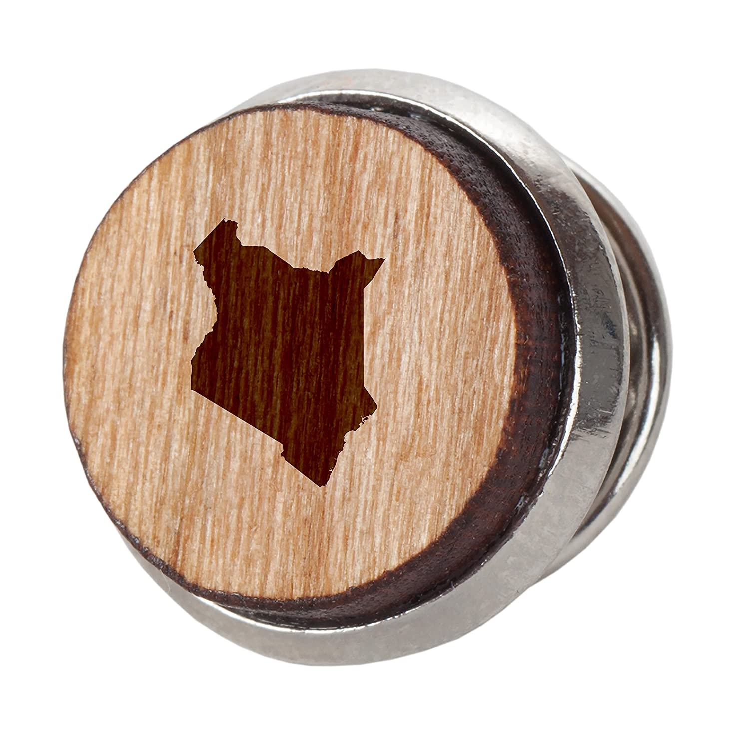 Kenya Stylish Cherry Wood Tie Tack 12Mm Simple Tie Clip with Laser Engraved Design Engraved Tie Tack Gift
