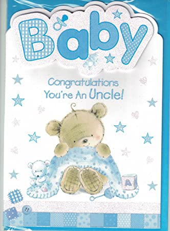 new baby boy card congratulations youre an uncle quality new baby nephew