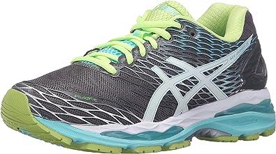 ASICS Womens Gel-Nimbus 18 Running Shoe, Titanium/White/Turquoise, 5.5 2A US: Amazon.es: Zapatos y complementos