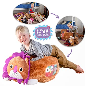 Amazon Com Stuffed Animal Storage Bag Lion Bean Bag Chair