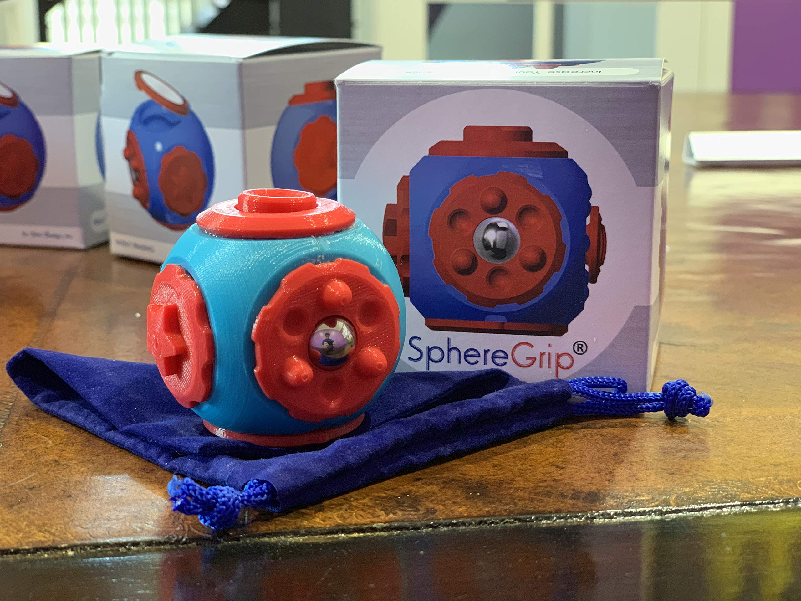 SphereGrip, Fidget toy, Reduce Anxiety and Stress, Increase Self-confidence, Fidget, Storage, Mirror (All 6 combinations) by Arbi Design (Image #8)