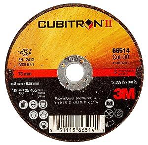 "Cubitron II 66514 3M Cut-Off Wheel, T1 3"" x .035"" x 3/8"""