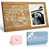 Picture Frame Gifts for Him Boyfriend Husband and Her Girlfriend Wife -I Love You To The Moon And Back- Birthday Gifts…