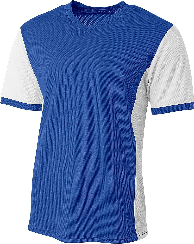 A4 Boys Premier Soccer Jersey Royal//White