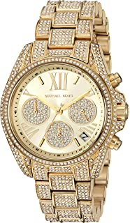 f041ea0390c0a Amazon.com  Michael Kors Camille Crystal Covered Gold Stainless ...