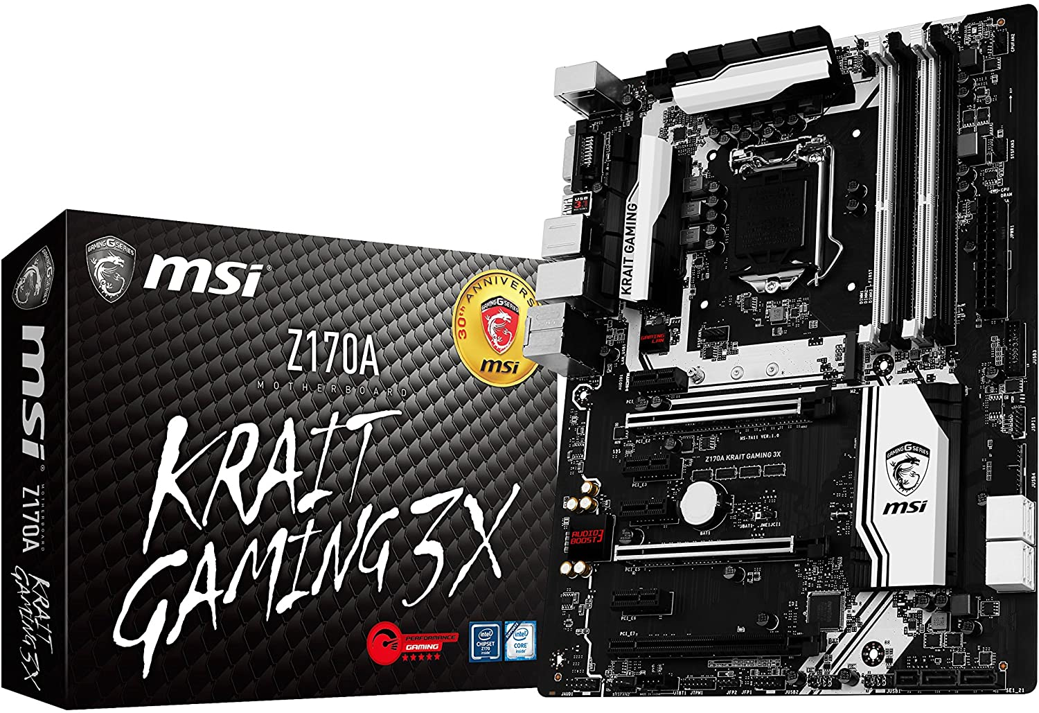 MSI Performance Gaming Intel Z170ALGA 1151 DDR4 USB 3.1 ATX Motherboard (Z170A Krait Gaming 3X)