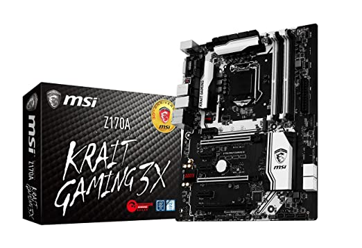 MSI Z170A Krait Gaming 3X Mother Board Motherboards at amazon
