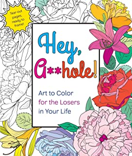 Hey Ahole Art To Color For The Losers In Your Life
