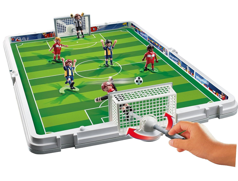 playmobil 4725 jeu de construction terrain de football et joueurs amazonfr jeux et jouets
