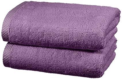 AmazonBasics - Juego de 2 toallas de secado rápido, 2 toallas de mano - Lavanda