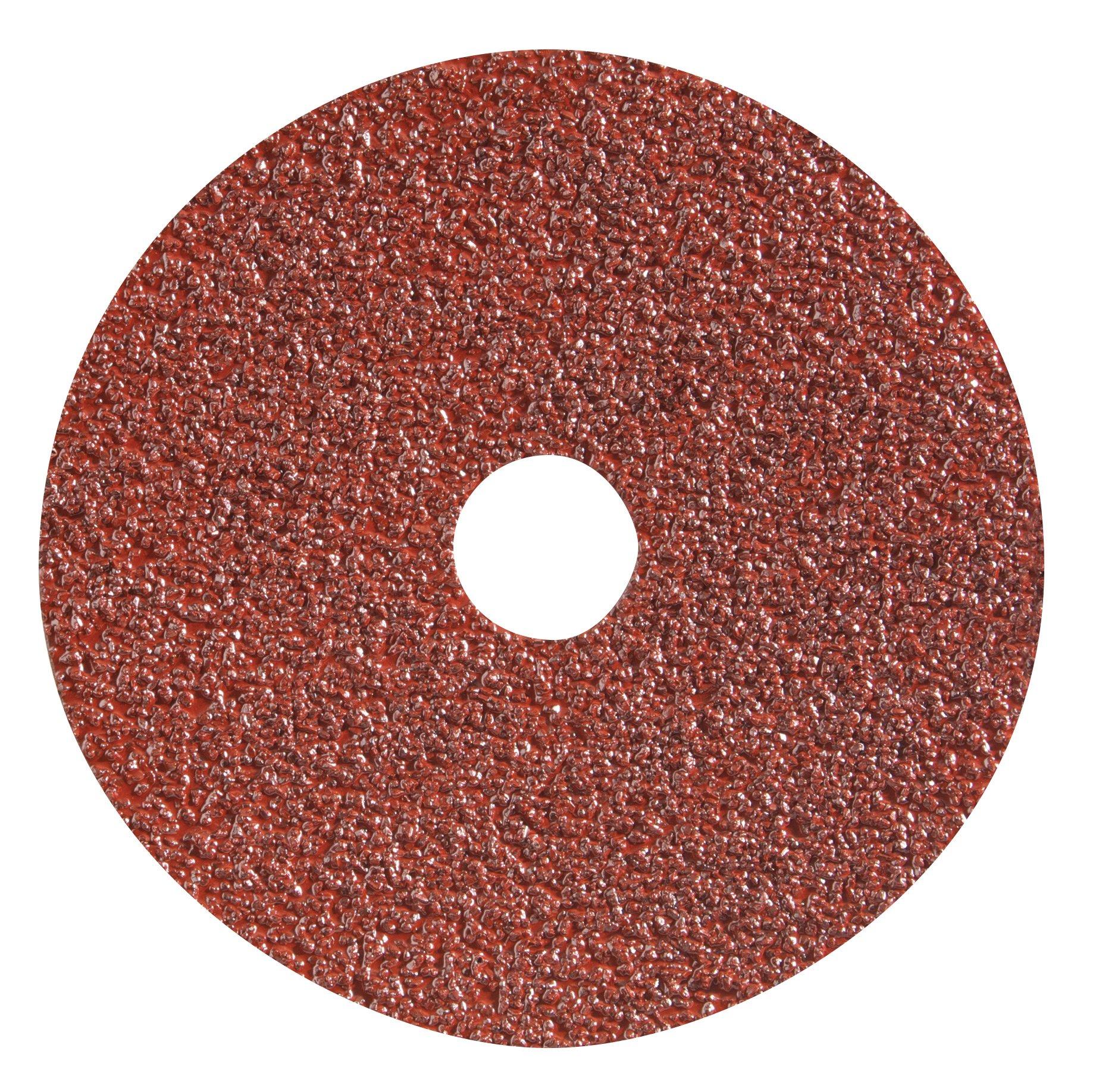 "Spiralcool C-4'' x5/8-60 All Purpose Resin Fiber Discs, ""C"" Type- Aluminum Oxide, 60 Grit (Pack of 25)"
