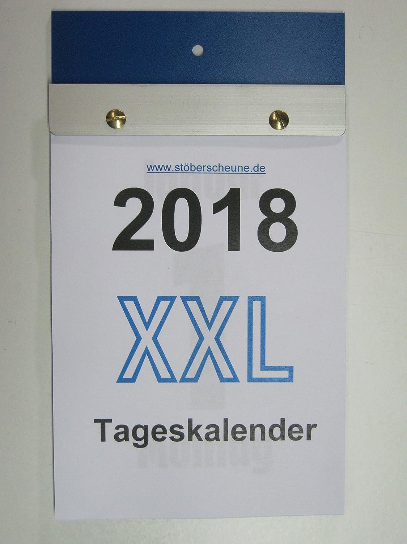 Tageskalender XXL Großdruck DIN A 5 2018 ca 25 x 14,5 cm: Amazon.de ...