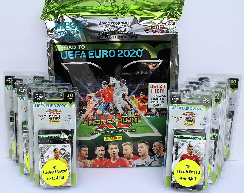 Panini Adrenalyn Road to UEFA Euro 2020 - Set de iniciación (Incluye 10 blísteres): Amazon.es: Juguetes y juegos