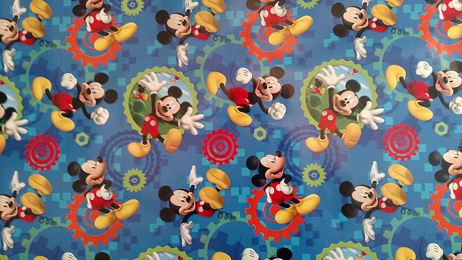 Amazon.com: Disney Hallmark Mickey Mouse Clubhouse Gift Wrap ...