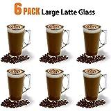 Rouge fête Tasses et B074281wty 6 Pack Latte Cups