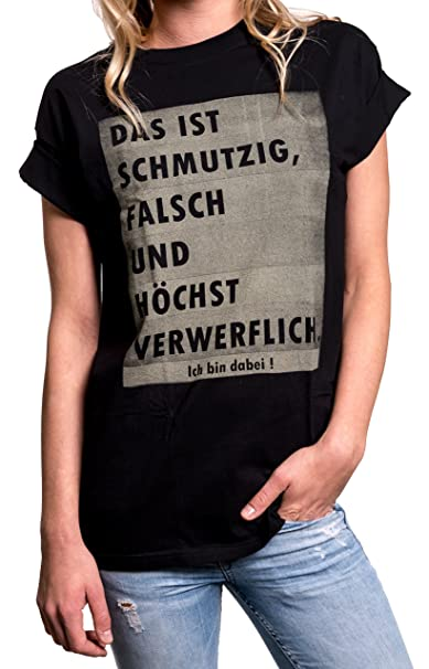 Amazon.com: MAKAYA Top with Funny Quotes in German - Slogan ...