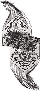 product image for Heritage Lace Halloween Damask 15-Inch by 68-Inch Runner, Black