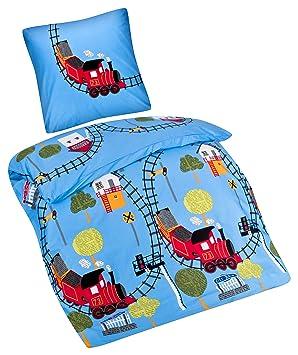 Aminata Kids Kinder Bettwäsche Set 135 X 200 Cm Zug Motiv