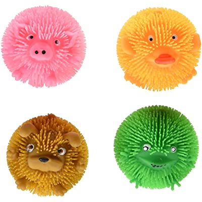 Rhode Island Novelty Squishy Farm Critters - Box of 12 Animals: Toys & Games