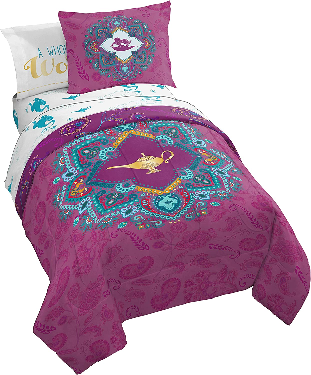 Jay Franco Disney Aladdin Show You The World Bed Set, Twin