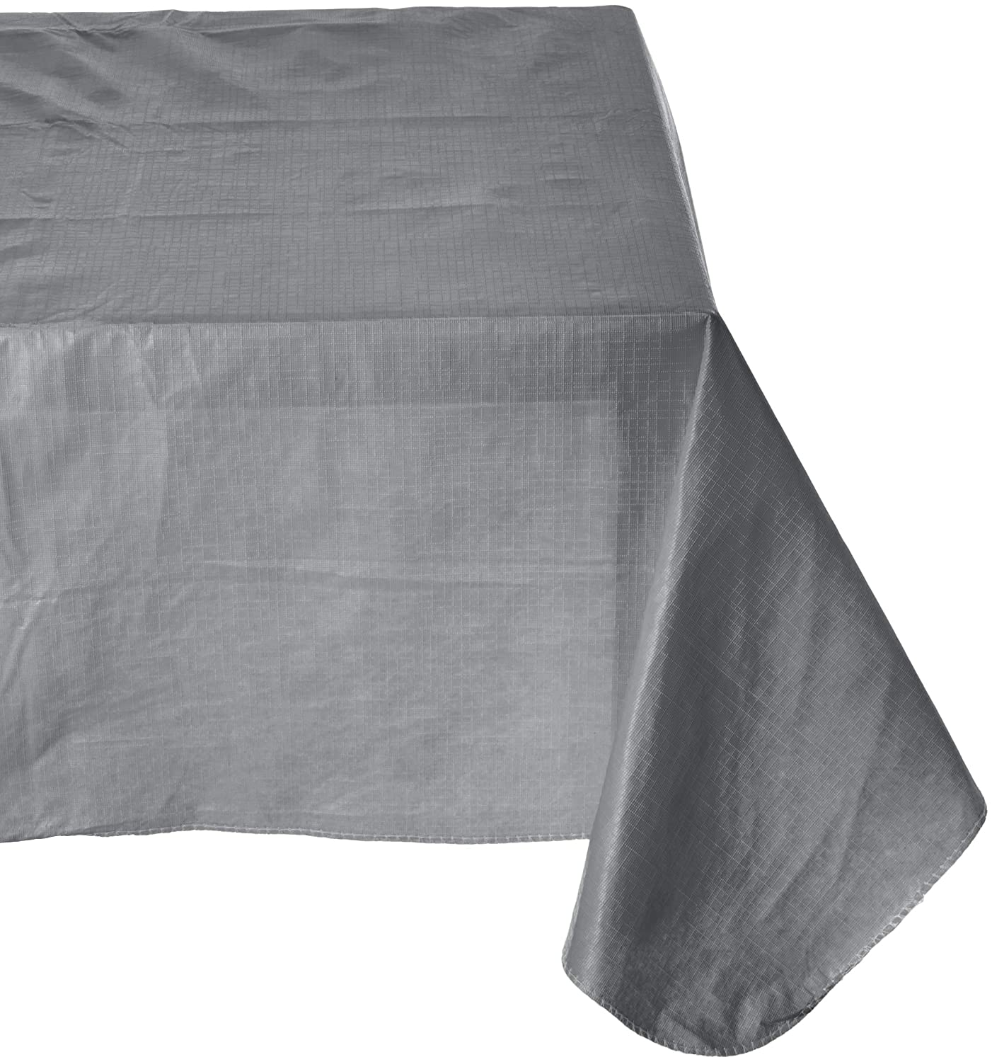 Amscan Durable Indoor Outdoor Flannel Backed in Solid Color Silver Vinyl 52 x 90 Others Party Supplies 6 Piece