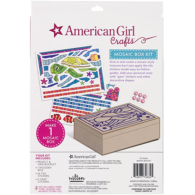 Amazon.com: American Girl Crafts – 30 – 726345 Kit mosaico ...