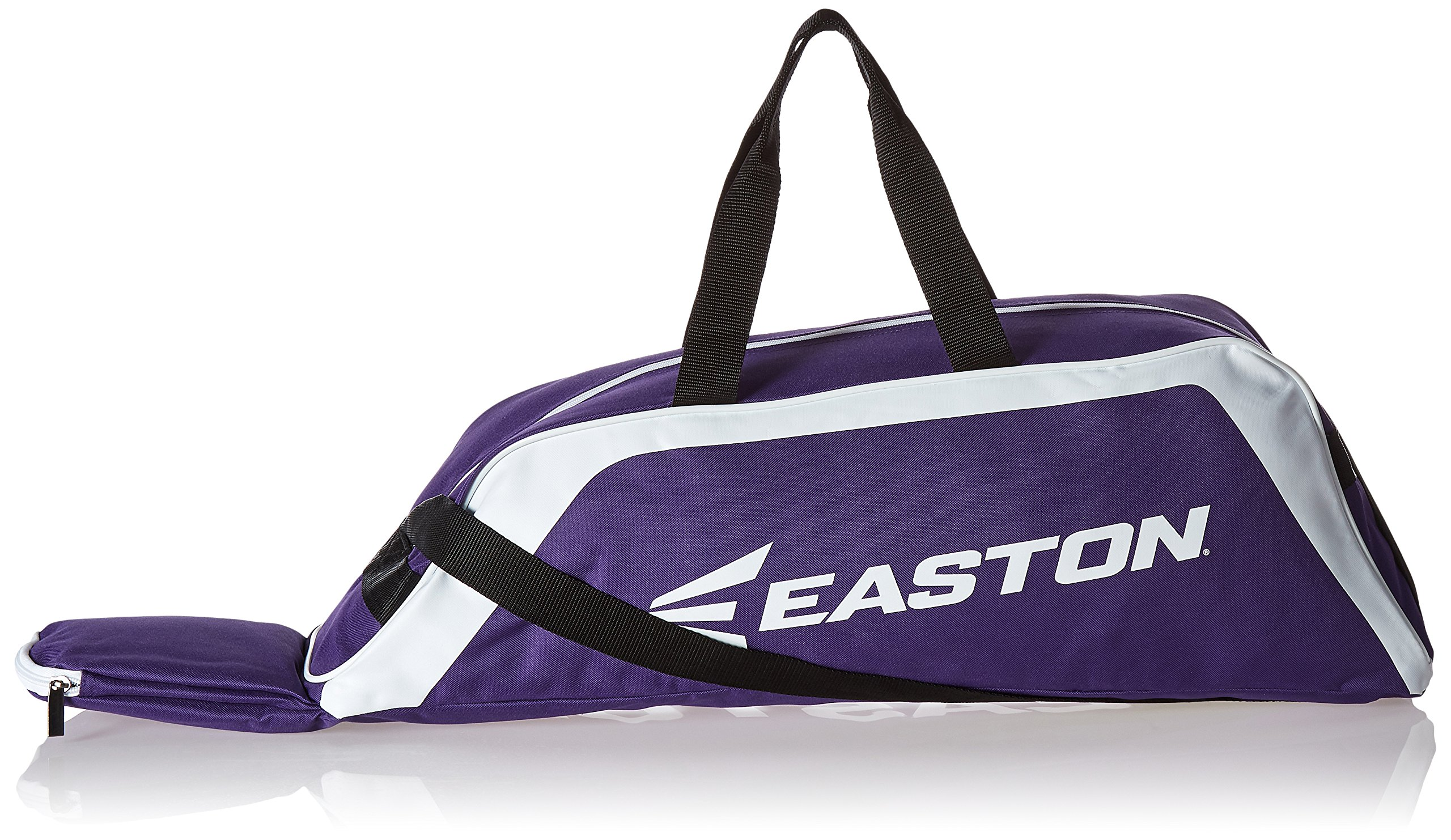 EASTON E100T Youth Bat & Equipment Tote Bag | Baseball Softball | 2019 | Purple | 2 Bat Compartment | Main Gear Compartment | Fence Hook | Shoulder & 2 Handle Straps by Easton