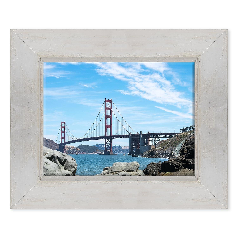 D  color Bianco Shabby 30 x 40 cmConKrea QUADRO golden Gate Bridge  Ponte Baia di San Francisco  USA America  California MODERN ON CANVAS Measurements  70 x 100 cm A  Senza Cornice