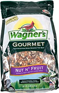 Wagner's 82072 Gourmet Nut & Fruit Wild Bird Food, 5-Pound Bag